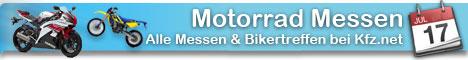 Motorradmessen und  Ausstellungen. Alle Veranstaltungen, Bikertreffen und Shows mit Ausfahrten. Die Termine, Messen der Motorrad-Branche auf einer Seite.