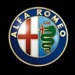 Alfa Romeo Handylogo weiss