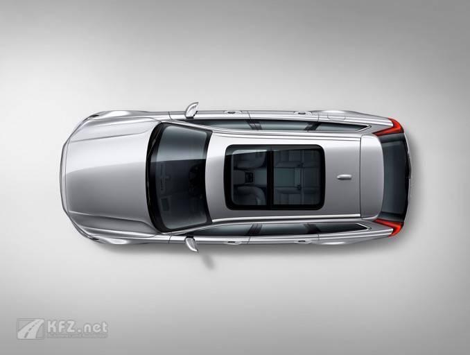 Volvo V90 Studio bird's eye view