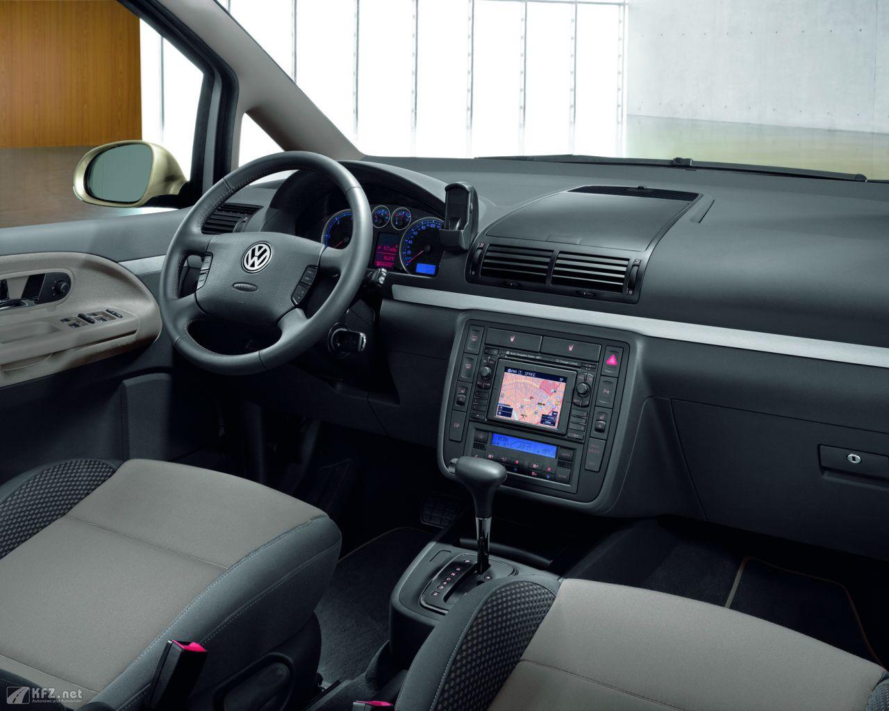 VW Sharan Bilder. Eine großraum Limousine aus Deutschland