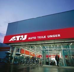ATU Logo auf der Werkstatt