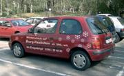 Pkw mit Autowerbung