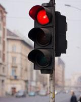 Foto einer roten Ampel