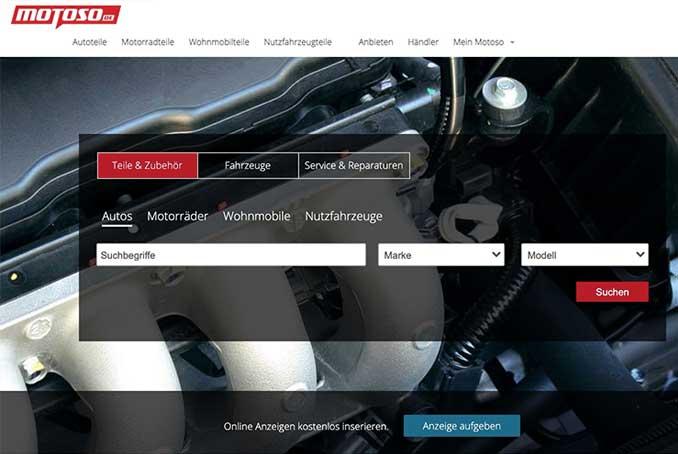 Bild der Motoso Webseite