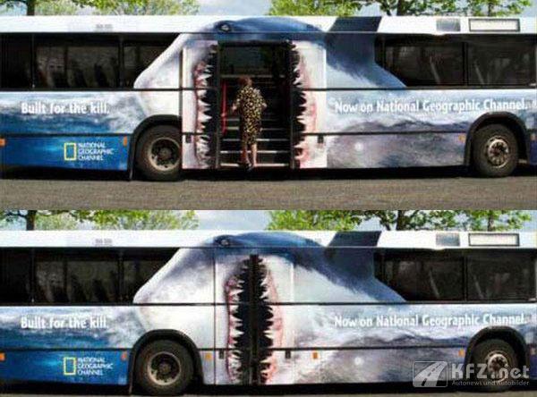 Haifisch Buswerbung