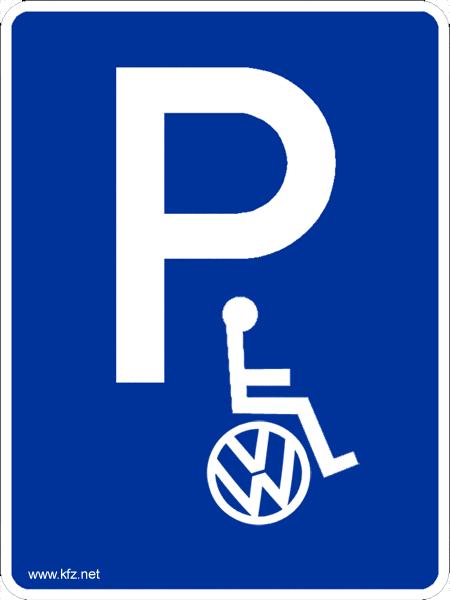 VW Behindert Schild