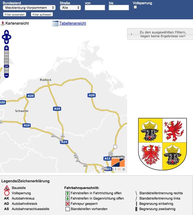 Baustellen Mecklenburg-Vorpommern