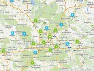 chargemap Karte mit ElektroLadestationen