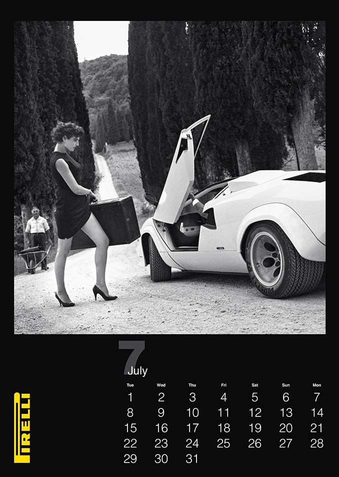 Pirelli Kalender Foto Schwarz weiss