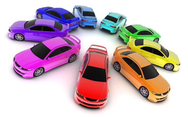 Beliebte Autofarben