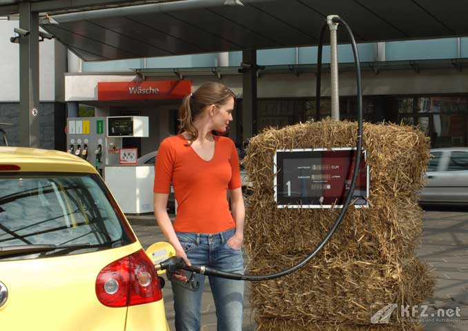 Foto: Tankstelle mit Biokraftstoff