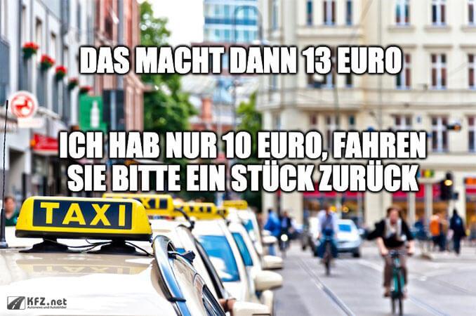 Taxifahrer Scherz