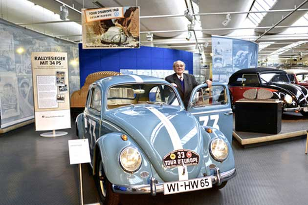 Hans Wehner im VW Museum