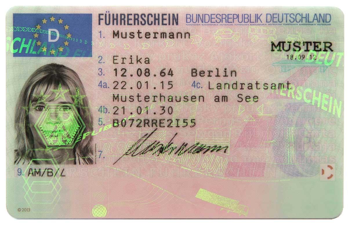 EU-Führerschein Foto