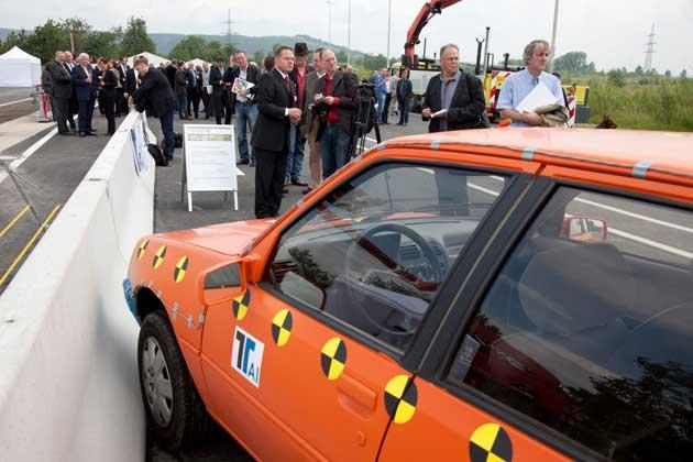 Einweihung des Testgeländes von TÜV Rheinland in Aldenhoven.