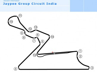 Grafik New Delhi Formel 1 Rennstrecke
