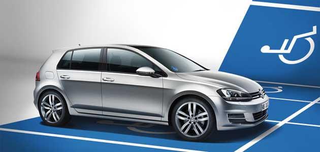 Volkswagen Behindertenfahrzeuge. Foto Golf