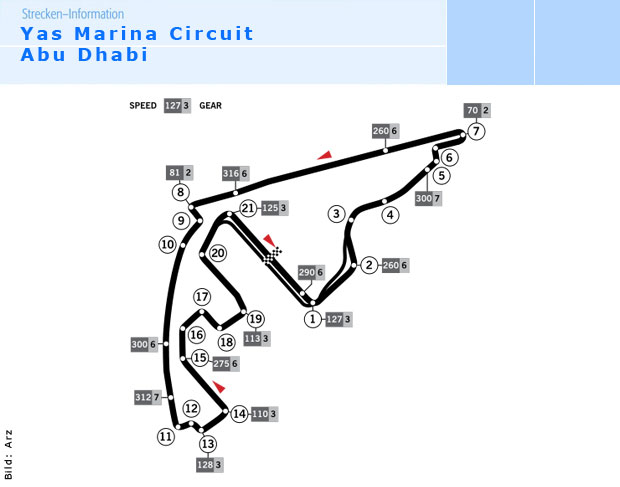 yas marina circuit formel 1 rennstrecke in abu dhabi. Black Bedroom Furniture Sets. Home Design Ideas