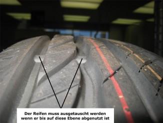Reifen mit Abnutzungsanzeiger