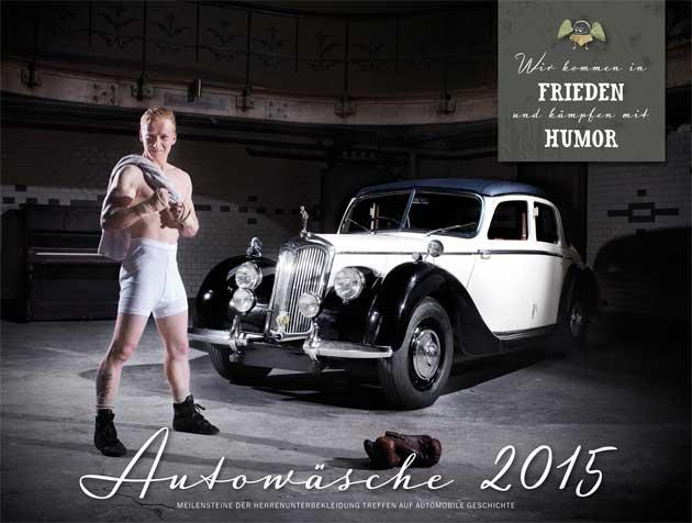 Autokalender mit Männern