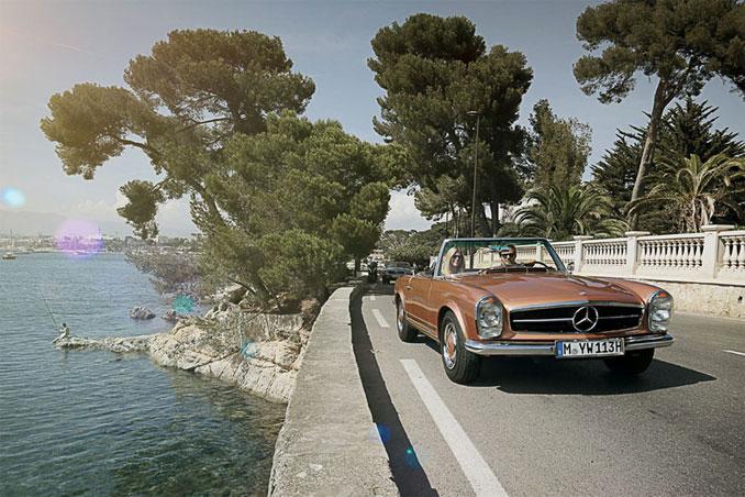 Foto: Mercedes SL am Meer