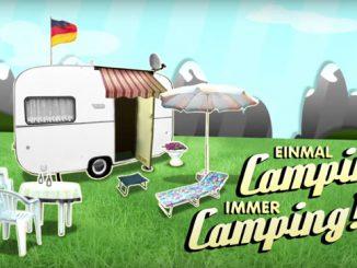 Logo der Einmal Camping immer Camping Sendung