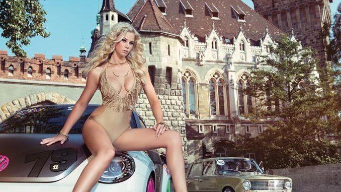 Burg Vajdahunyad; Auto: VW Beetle, Lada. Eine Zeitreise durch die Geschichte: Im Budapester Stadtwäldchen steht die Burg Vajdahunyad, die für die Feierlichkeiten zum 1000-jährigen Bestehen Ungarns erbaut und 1896 eröffnet wurde. Von der Vergangenheit in die Moderne hieß es auch bei den Autos: Vorne der aktuelle VW Beetle, im Hintergrund ein getunter Lada.