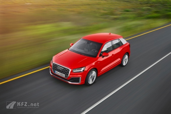 Audi Q2 Fahraufnahme