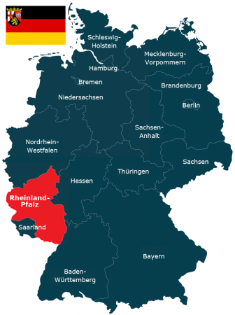 Deutschlandkarte Bundesland Rheinland-Pfalz