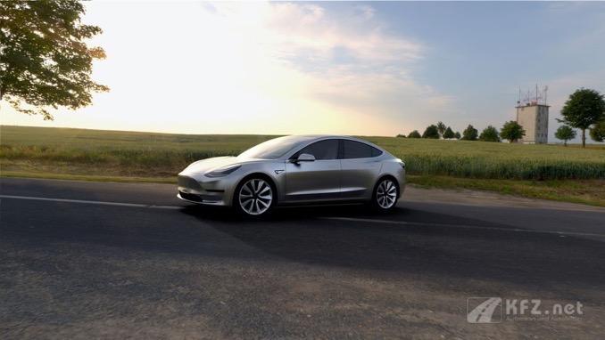 Tesla Model3 Seitenansicht