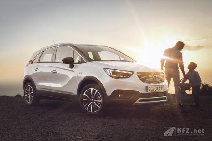 Opel Crossland X im Profil. Foto Opel