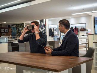 Foto: Virtuelles Autohaus Mit VR-Headset