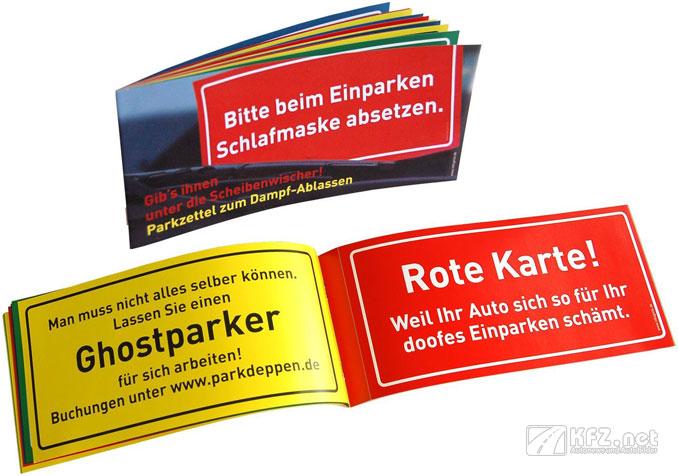 Parkzettel für Falschparker