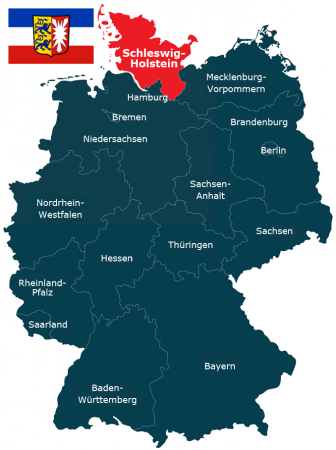 Deutschlandkarte Bundesland Schleswig-Holstein