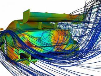 Grafik: Strömungs-Simulation bei einem Rennauto