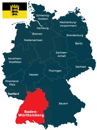 Deutschlandkarte Bundesland Deutschlandkarte Bundesland Baden-Württemberg
