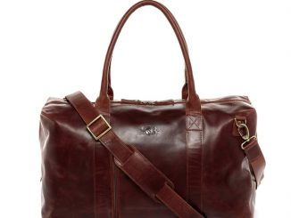 Leder Weekender Tasche