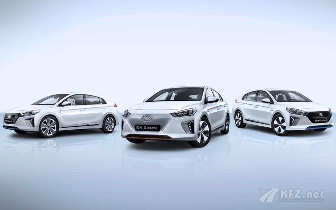 Die Ioniq Fahrzeugvarianten