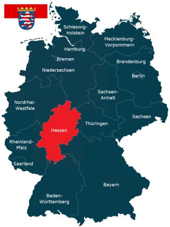 Deutschlandkarte Bundesland Hessen