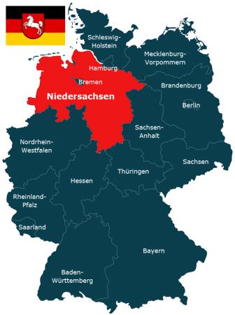 Deutschland Karte Bundesland Niedersachsen