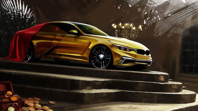 Vergoldeter 3er BMW aus dem Hause Lannister
