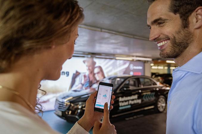 automatisches parken mit Mercedes