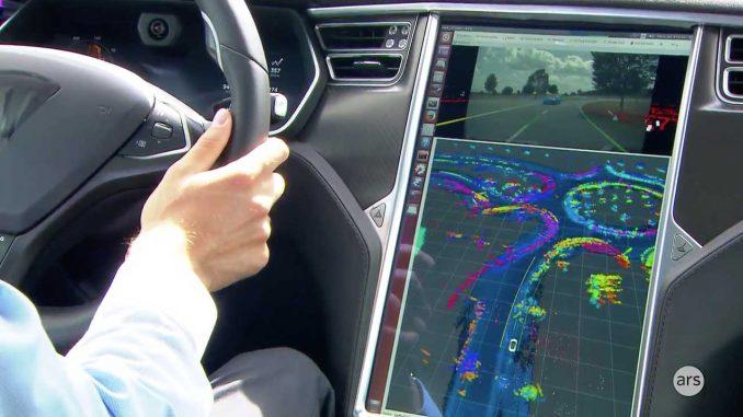 Selbstfahrendes Fahrzeug mit Lidar Scanner