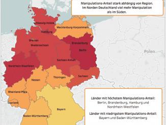 Grafik Tachomanipulationen in Deutschland