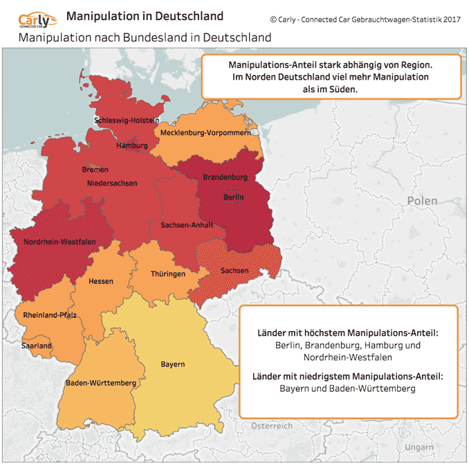 Grafik Tachomanipulationen in Deutschland