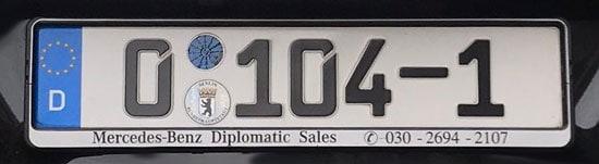 Berliner Diplomatenkennzeichen