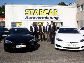 Tesla Model S bei der Starcar Autovermietung