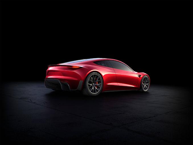 Tesla Roadster 2 Heck