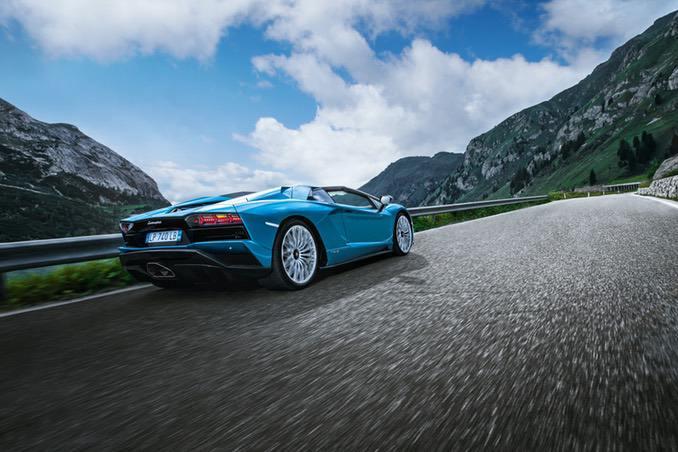 Lamborghini Aventador Roadster road