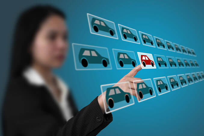 Symbolbild Autokauf online